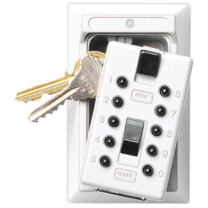Keysafe Permanent, Push, White