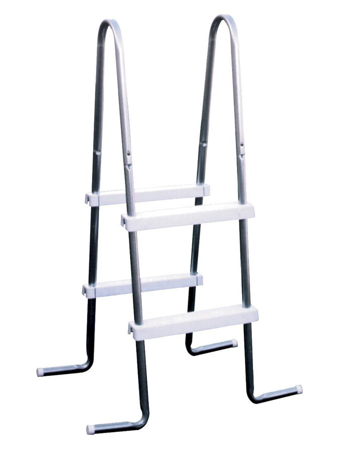 "Lyf-Guard 36"" A-Frame Steel Ladder w/ Resin Steps"