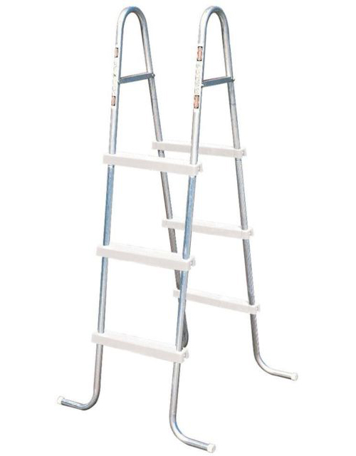"Lyf-Guard 42"" A-Frame Steel Ladder w/ Resin Steps"