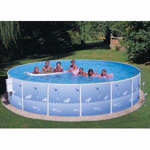 "Deluxe Frame 18' x 42"" Deep Splasher Pool"