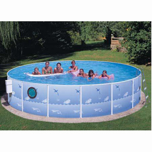 "Deluxe w/Porthole 18' x 42"" Deep Splasher Pool"