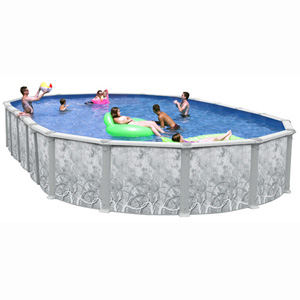 "Mystic II 52"" Deep Standard Oval Resin/Steel Above Ground Pool, 18' x 12'"