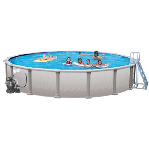 "Pacific Coast 27' Round 52"" Above Ground Complete Deluxe Pool Package"