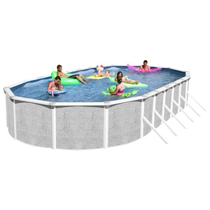 "Tango 52"" Deep Standard Oval Resin/Steel Above Ground Pool, 24' x 15'"