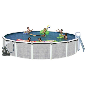 "Tango 24' Round 52"" Above Ground Complete Deluxe Pool Package"
