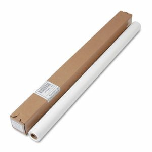 "Table Set Plastic Banquet Roll, Table Cover, 40"" x 100ft, White"