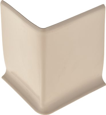 TARKETT VINYL BASE OUTSIDE CORNERS, GRAY-BROWN, 4 IN.