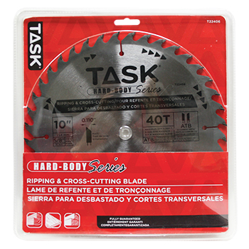 "10"" x 40T ATB Hard Body Carbide Saw Blade"