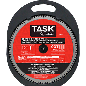 "12""x90Tx1"" TASK Signature Compound Mitre Blade"
