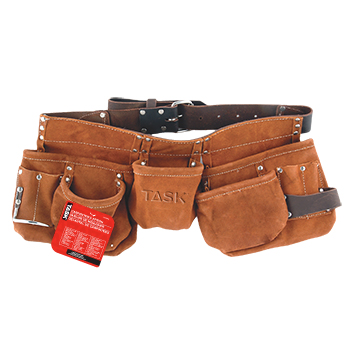 JS - Carpenter's Apron - Leather Belt - 11 pocket