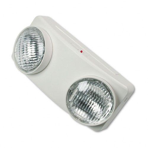 "Swivel Head Twin Beam Emergency Lighting Unit, 12 3/4""w x 4""d x 5 1/2""h, White"
