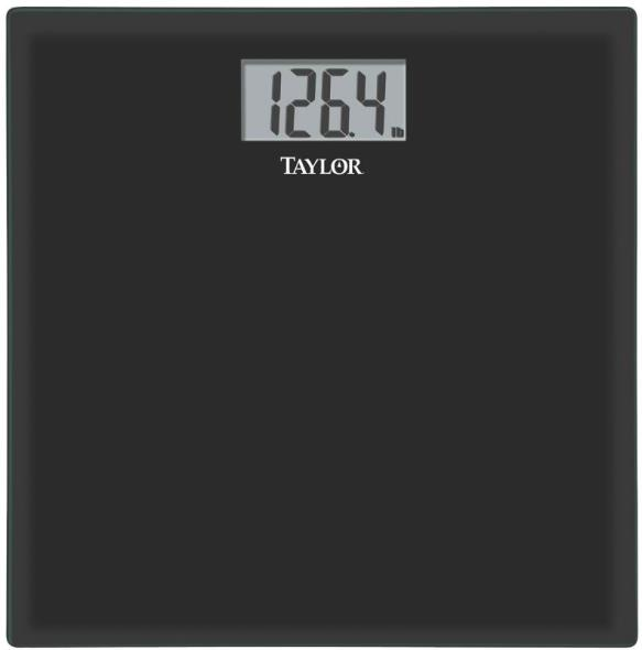 Taylor 400Lb. Digital Bathroom Scale, Black
