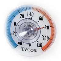 Taylor 5321N Weather Resistant Round Dial Thermometer, -40 TO 120 deg F, 3-1/2 in Dia