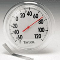Taylor 5630 Weather Resistant Round Window Thermometer, -60 TO 120 deg F, 6 in Dia