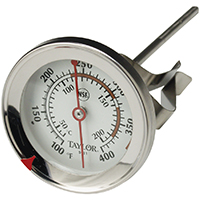 Taylor 5911N Candy/Jelly Deep Fry Thermometer, 100 - 400 Deg F, 2-3/4 in