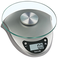 Taylor 3831S Digital Kitchen Scale, 6.6 lb, LCD, Lithium Battery