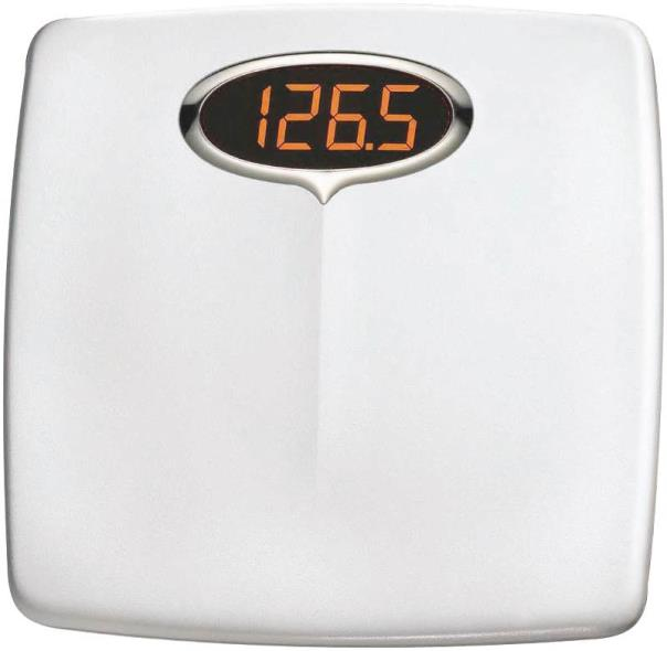 Upscale Super Brite 98534012 Electronic Bath Scale, 330 lb, LED