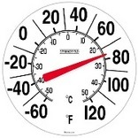 90050 8 IN. WHITE THERMOMETER