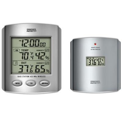 Taylor Precision Products 91756 Wireless Thermometer with Indoor/Outdoor Humidity & Clock
