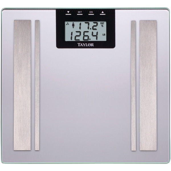 Taylor Precision Products 57364102F Body Fat Digital Scale (Silver)