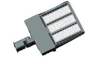 SHOEBOX FLOOD FIXTURE-LED, 5000K, 100W, 100~277V, SLIP FITTER