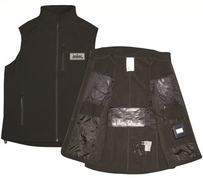 IONGEAR� BATTERY POWERED HEATING VEST, BLACK, X-LARGE,