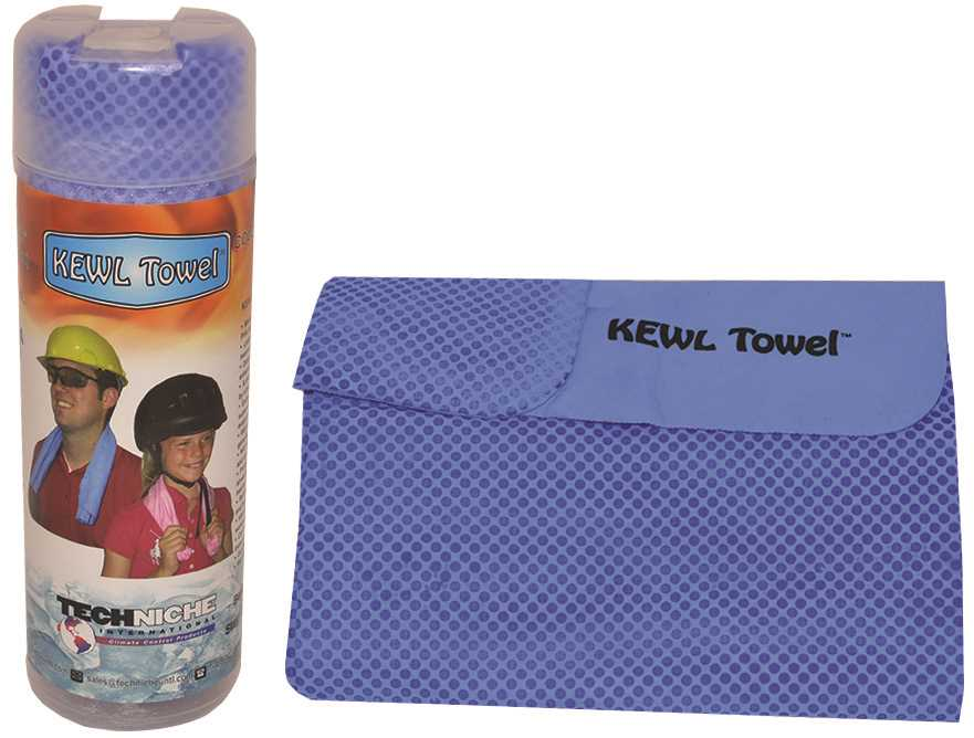 KEWL TOWEL� EVAPORATIVE PVA COOLING TOWEL, BLUE, 12X28 IN.,