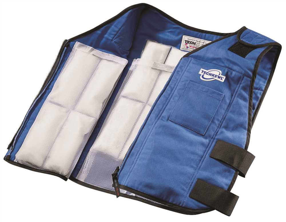TECHKEWL� PHASE CHANGE COOLING VEST, BLUE, LARGE TO EXTRA-LARGE