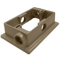 Teddico/BWF 10XFAB-1 Flanged Weatherproof Box Extension Adapter, Die Cast Metal, Bronze