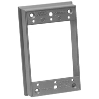 Teddico/BWF 10XR-1 Weatherproof Extension Ring, For Use With 1-Gang Outlet Boxes, Die Cast Metal, Gray