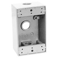 Teddico/BWF 1503W-1 Weatherproof Electrical Outlet Box, 1 Gang, 97.3 cu-in, 4-9/16 in L X 2-13/16 in W X 2 in D