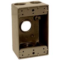 Teddico/BWF 1753AB-1 Weatherproof Electrical Outlet Box, 1 Gang, 97.3 cu-in, 4-9/16 in L X 2-13/16 in W X 2 in D