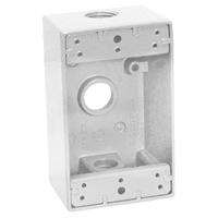 Teddico/BWF 1753W-1 Weatherproof Electrical Outlet Box, 1 Gang, 97.3 cu-in, 4-9/16 in L X 2-13/16 in W X 2 in D