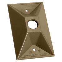 Teddico/BWF 811AB-1 Raised Weatherproof Lampholder Cover, 2-7/8 in L X 1-1/16 in W X 4-1/2 in D, Bronze