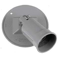 Teddico/BWF LHC-1V Single Lamp Holder With Round Cover, Gray, Die Cast Metal