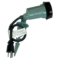 Teddico/BWF SP-1G-24 Portable Spike Light With External Gasket, H-1, Halogen Lamp, 6 ft, Green