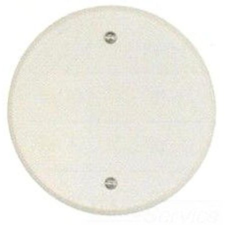 Teddico/BWF CC-4WV Round Weatherproof Ceiling Outlet Cover, 5 in Dia, White, Stamped Aluminum