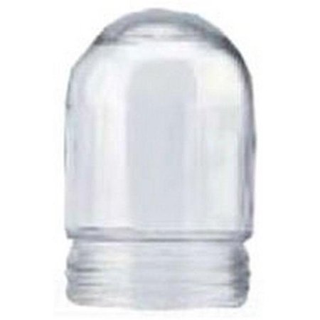 Teddico/BWF G-5 Glass Globe, Round, For Use With P-3 Fixture, Clear, Powder Coated