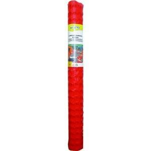 Tenax 2A060006 Economy Lightweight Warning Barrier, 100 ft L x 4 ft W, 1-3/4 X 1-3/4 in Mesh