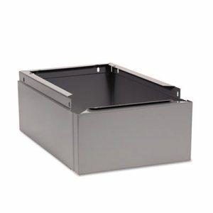 Optional Locker Base, 12w x 18d x 6h, Medium Gray