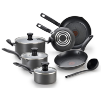 T-Fal Initiatives A821SA94 Cookware Set, 10 Pieces, 5 qt Capacity