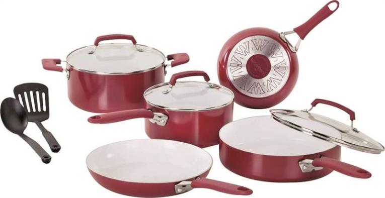 COOKWARE CERAMIC 10 Piece SET