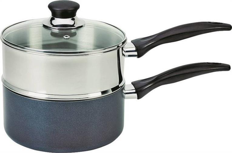 T-Fal A9099664/94 Double Non-Stick Boiler Sauce Pan, 3 qt
