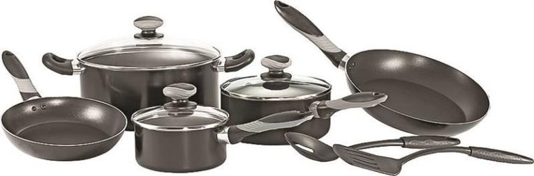 COOKWARE SET BLACK 10 Piece