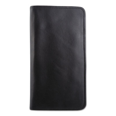 Passport/Document Holder, Black, Leather, 4 3/4 x 9, 10/Carton