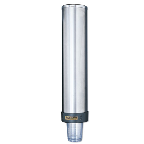 Large Water Cup Dispenser w/Removable Cap, Wall Mounted, Stainless Steel