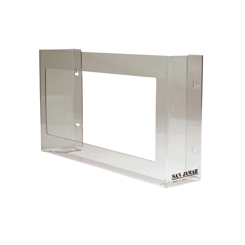 Clear Plexiglas Disposable Glove Dispenser, Three-Box, 18w x 3 3/4d x 10h