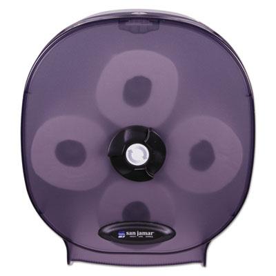 4-Station Carousel Tissue Dispenser, 4Roll,14 7/8x6 1/8x13 1/8, Black Pearl