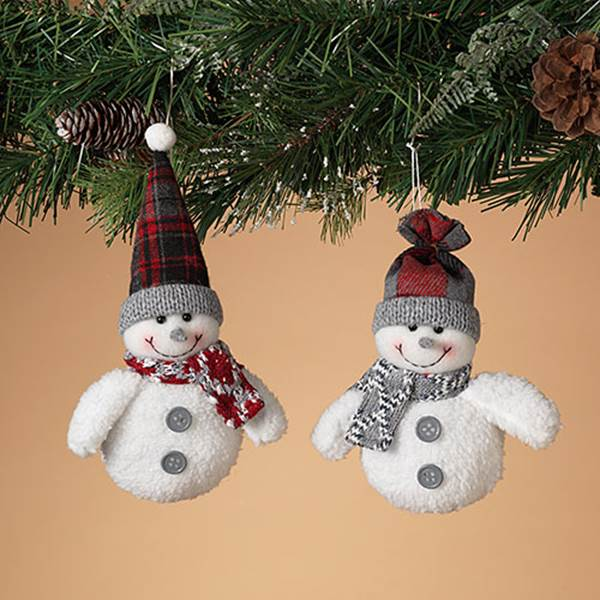 ORNMT SNOWMAN DISPLAY 2PC 5IN