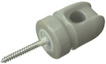 60322 2-1/4 IN. PORC WIREHOLDER